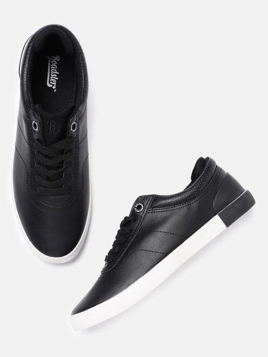 Roadster Men Black Sneakers | Black