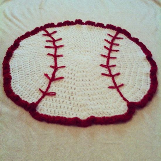 Crochet Baseball Baby Blanket Any Colors By BizeeHands On