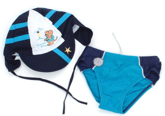 #Badehose und #Sommermütze in Mini Gr. 52 für Jungs.