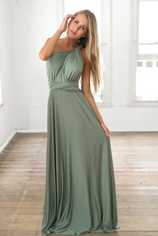 Khaki Stretch Convertible Maxi Dress  The o&39jays The colour and ...
