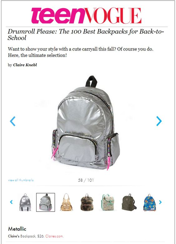SHow off your Back to School Style with this Metallic Backpack ...