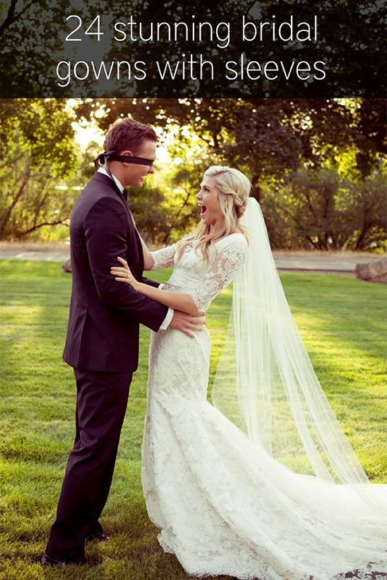 Walking Down the Aisle: Brides With Sleeves Do It Better | Wedding Party @ Wedding-Day-Bliss