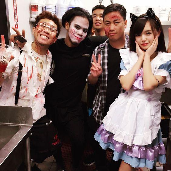 (づ )づ #halloween #halloween2015 #cosplay #maidcafe #animecosplay