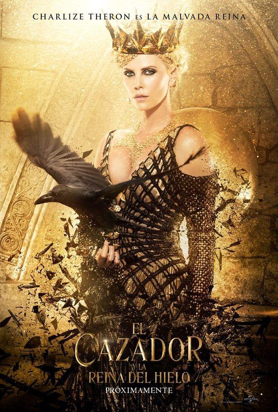 Charlize Theron y su póster en 'El cazador y la reina de hielo':