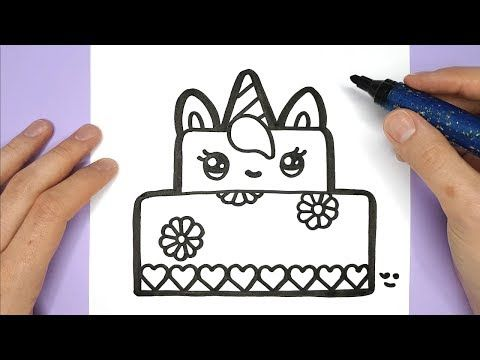 How To Draw A Unicorn Rainbow Cake Slice Easy And Cute Drawing