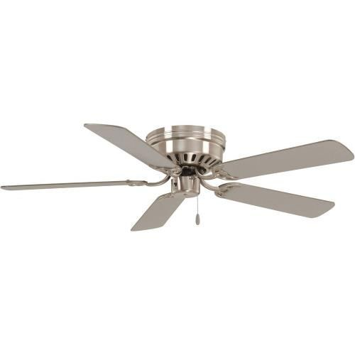 Our Close To Ceiling Economy Model In Two Sizes Will Move Air In The Tightest Places 12 Degrees Blad Ceiling Fan Brushed Nickel Ceiling Fan Silver Ceiling Fan