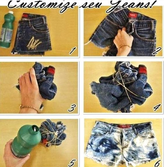 diy fashion acid washed jeans and ties on pinterest