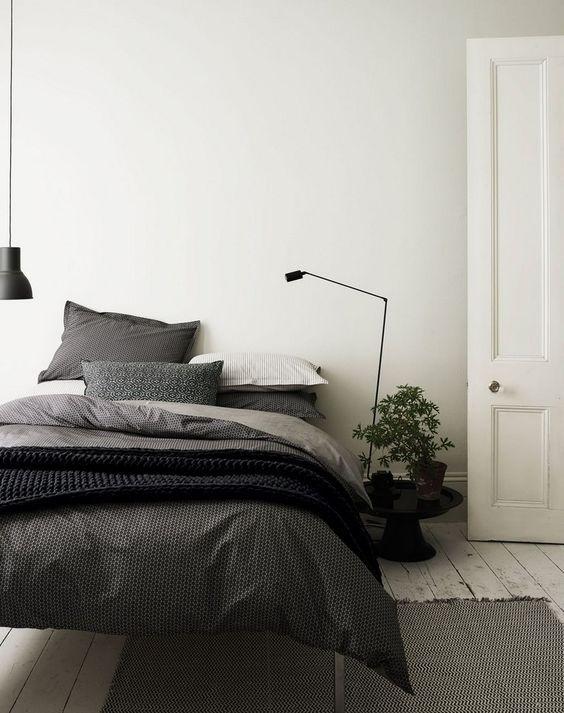 Minimalist Bedroom Plants Scandinavian Interior White Wooden Fl Modern Scandinavian Bedroom Design Scandinavian Interior Bedroom Modern Scandinavian Bedroom