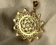 Mandala-Samen des Lebens. Unisex. Heilige Geometrie, Yoga, Meditation, Boho, Zigeuner, Psy.