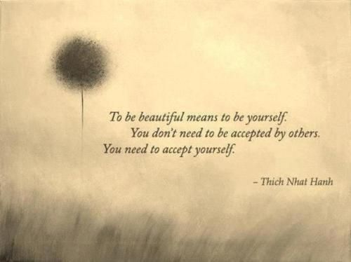 To be beautiful . . .