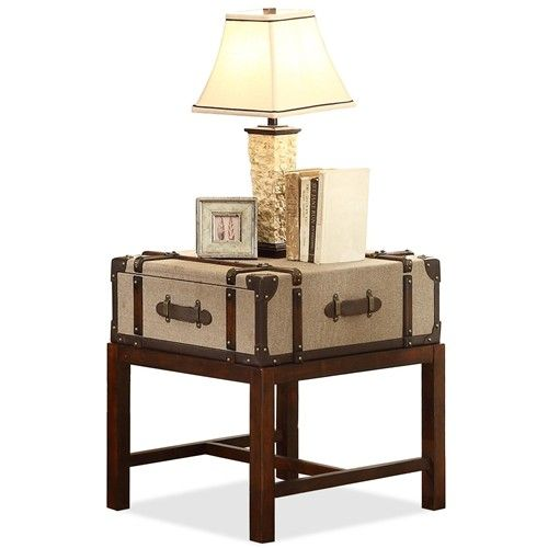 Bon Voyage Suitcase End Table By Riverside Furniture Value City Furniture End Table New