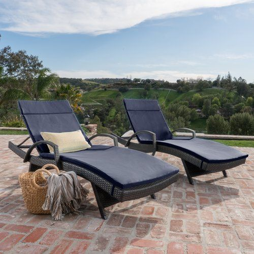 Rebello Reclining Chaise Lounge With Cushion Reviews Birch Lane Wicker Chaise Lounge Outdoor Chaise Lounge Outdoor Chaise