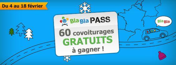 Gagnez vos BlaBla Pass ! - Covoiturage.fr by BlaBlaCar