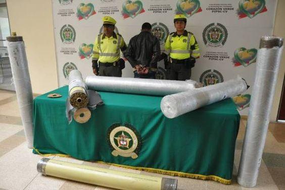 Capturado sujeto que transportaba más de 98 kilos de marihuana ocultos en unos tubos de PVC.