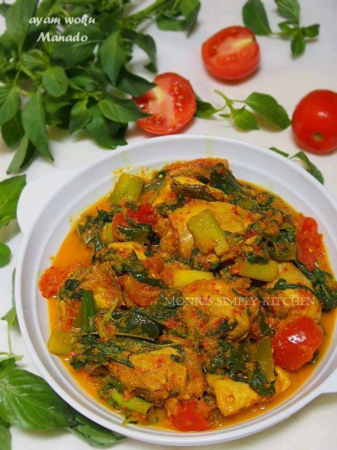 Ayam Woku Khas Manado Resep Ayam Resep Masakan Resep Makanan Sehat