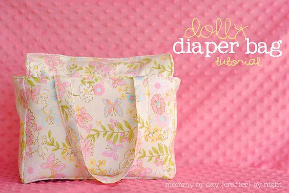 Doll diaper bag tutorial