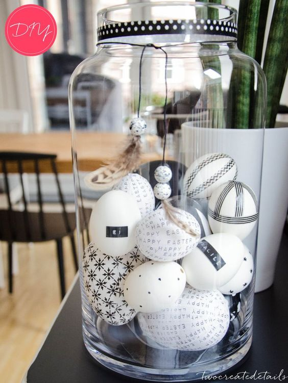 twocreatedetails osterdeko schwarz wei 21 paques. Black Bedroom Furniture Sets. Home Design Ideas