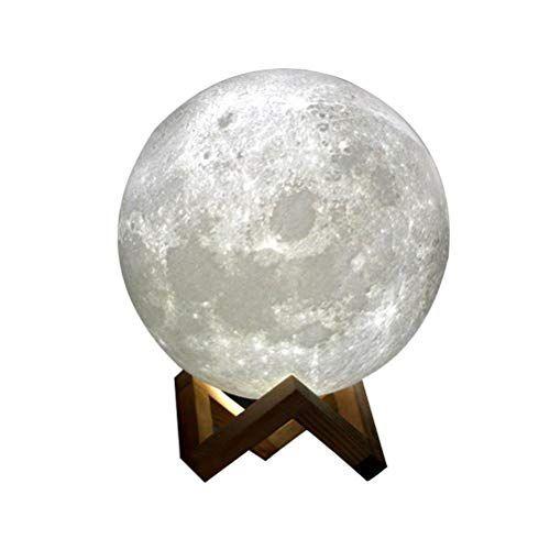 Moon Light 3d Printing Moon Stepless Dimmable Moon Https Www Amazon Com Dp B078zj1np9 R Led Night Light Battery Operated Led Lights Moon Light Lamp