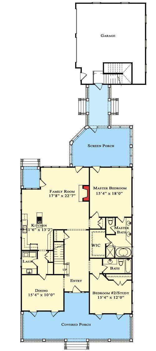 Plan 70010cw adorable cottage with breezeway and bonus for Narrow corner lot house plans