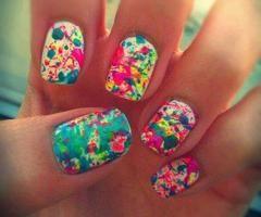 splatter nails! @