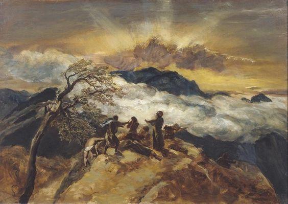 Paul Falconer Poole: Vázlat Ezékiel látomásához