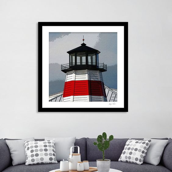 Discover «LightHouse Point», Limited Edition Fine Art Print by Glink - From $29 - Curioos