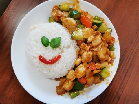 Kuchnia Chinska Kurczak Gongbao Youtube Food Grains Rice