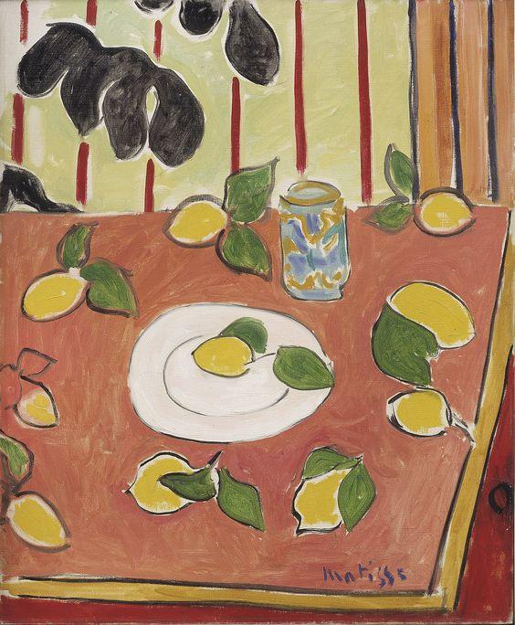 Henri Matisse (1869-1954) Philodendron noir et citrons/ Black Philodendron and Lemons, 1943