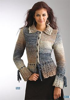 #9 Lace Trim Jacket pattern by Patons Australia