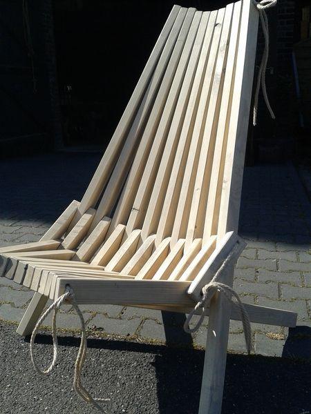 Bauholz Design Lounge Sessel von bauwerk-original auf DaWanda.com