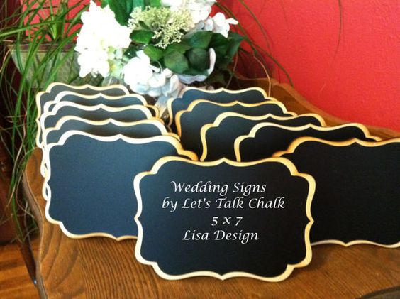 """Getting married?  Check out these NEW Elegant Wedding Chalkboard Signs 5"""" x 7"""" by LetsTalkChalk, Just $7.00 each!: Menu Design, Menu Signs, Settings Buffet, Chalkboard Signs, Buffet Signage, Charliechalkdesigns 85, Buffet Food, Signs Place, Lisa Design"""