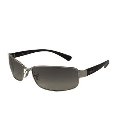 Another great find on #zulily! Silver Rectangular Sunglasses by Ray-Ban #zulilyfinds