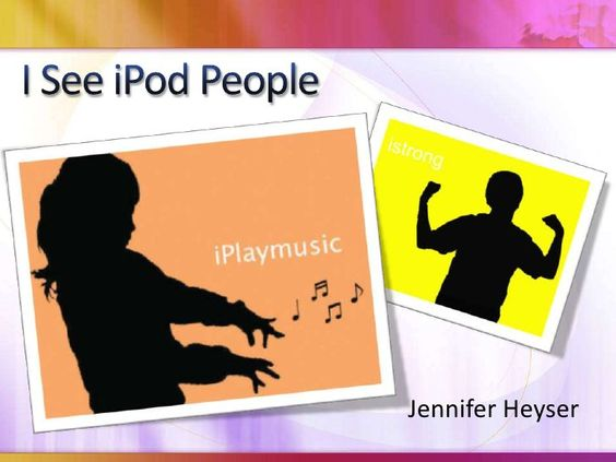 I pod people by thecrayonlab, via Slideshare
