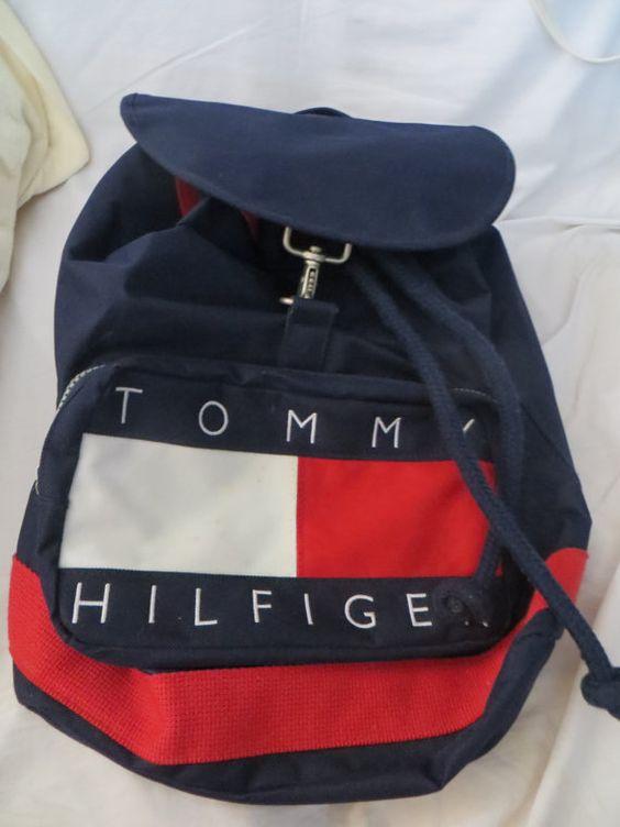 vintage TOMMY HILFIGER, Duffle Bag, Backpack, Canvas ...