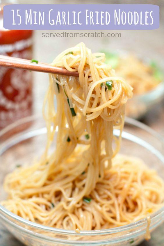 15 Minute Garlic Fried Noodles