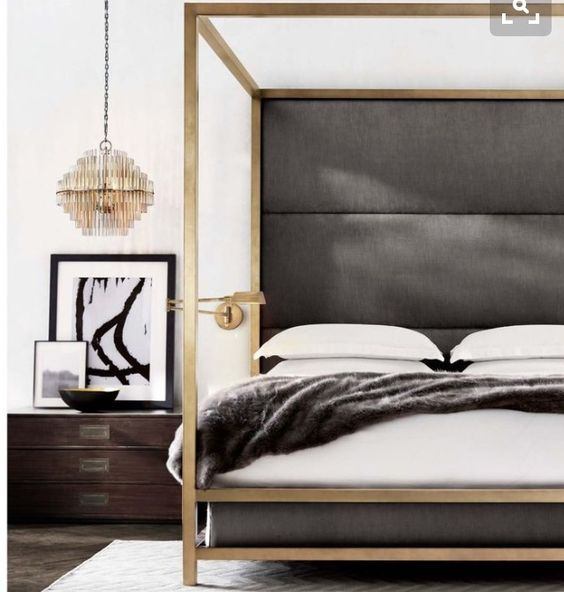 Contemporary Bed Style with white and gray