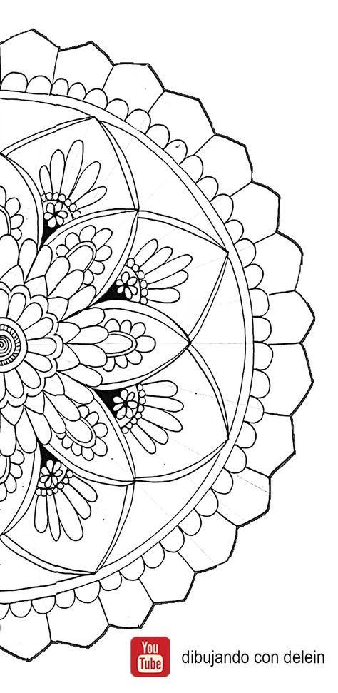 21 Mandalas faciles de dibujar paso a paso