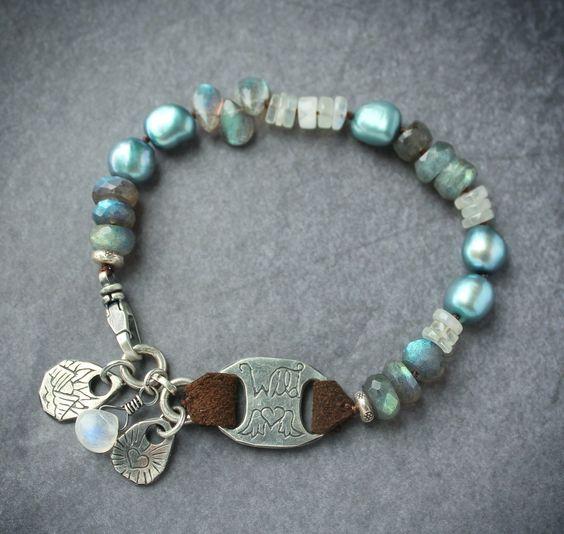 Wild Hearts & Horses, Bohemian gypsy bracelet