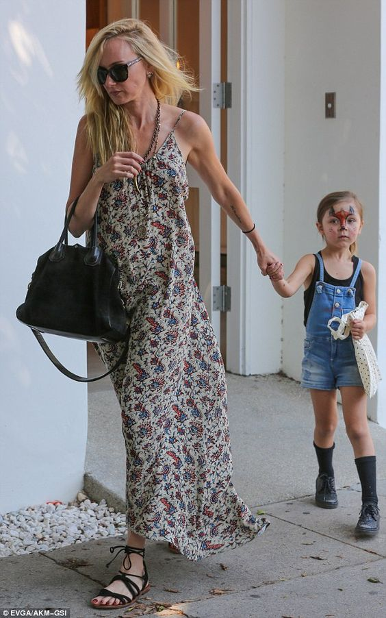 Bonding time: Kimberly Stewart was spotted withlittle five-year-old girl Delilah were spotted on a bonding trip in West Hollywood on Monday