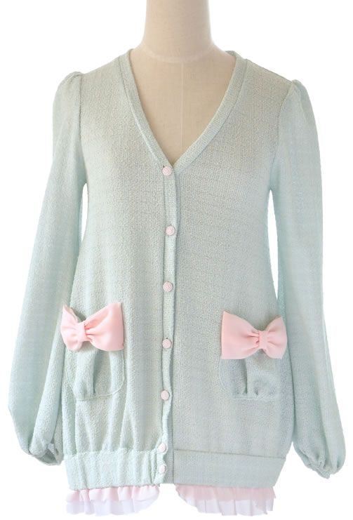cute pastel ribbon cardigan: