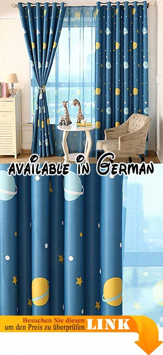 Met Love Printed Kinder Cartoon Boden Vorhänge Schlafzimmer - vorhänge für schlafzimmer