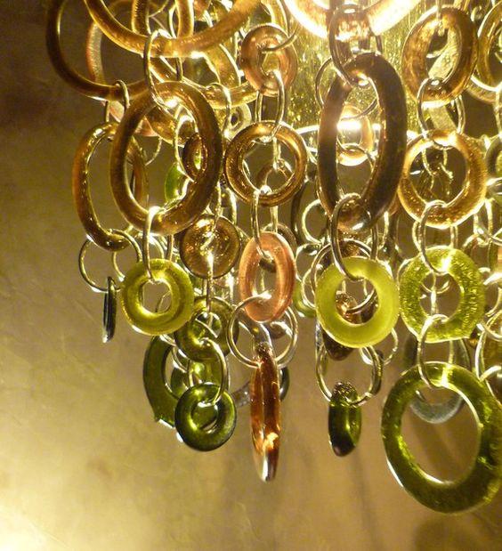 Bottle chandelier wine bottle chandelier and chandeliers on pinterest - Glass bottle chandelier ...