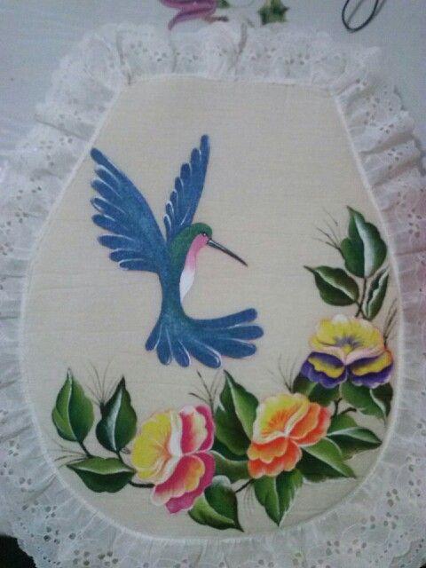 Juego de ba o pintura en tela lov ely pinterest for Pintura para sanitarios