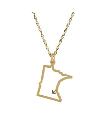 Minnesota necklace in gold with diamond accent