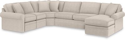 Collins (by la-z-boy)reclining sectional with sleeper an chaise.