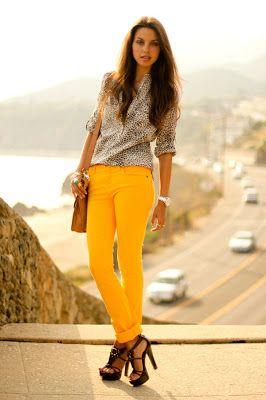 calça amarela da para abusar e muitooo