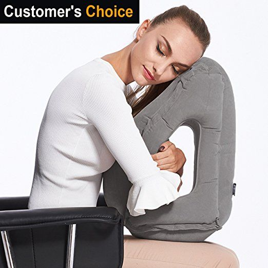 Sencezo Inflatable Travel Pillow Sleep Aid With Eye Mask Earplugs Carry Pouch Airplane Pillow For Travel Pillow Airplane Travel Pillow Neck Pillow Travel
