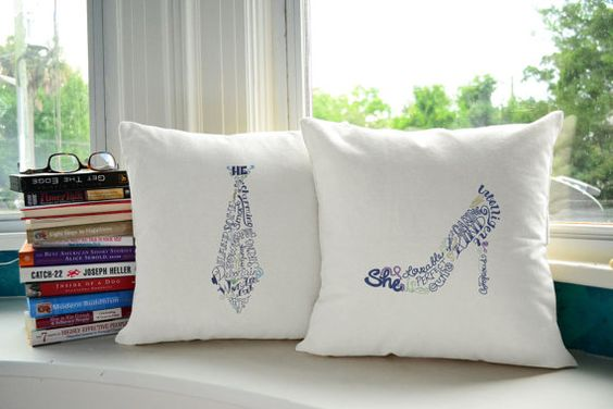 This adorable pillow pair lends a quirky vibe to any room you add it to. The pillows can be ordered in white or in natural color canvas and are