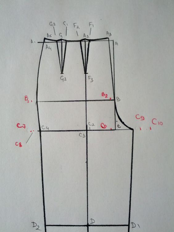 drafting a pants pattern   Molderia   Pinterest   Pantalones ...