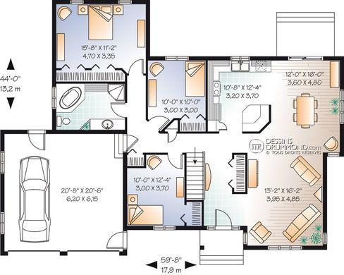 Plan Maison Rdc 1 Chambre Double Garage Ecosia Maison Laprise Plan De Maison Unifamiliale Maison Unifamiliale